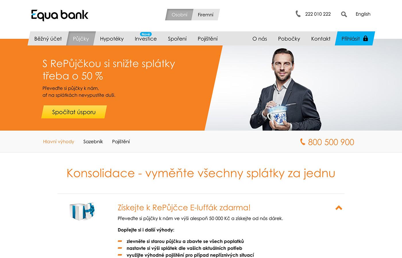 Webové stránky https://www.equabank.cz/pujcky/konsolidace-pujcka