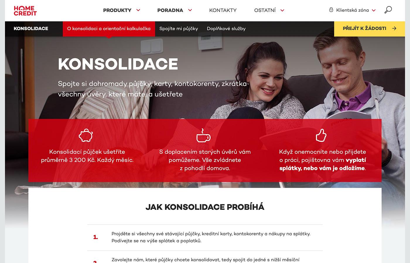 Webové stránky https://www.homecredit.cz/konsolidace-pujcek