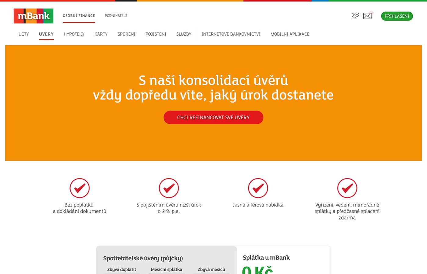 Webové stránky https://www.mbank.cz/osobni/uvery/mpujcka-konsolidace/
