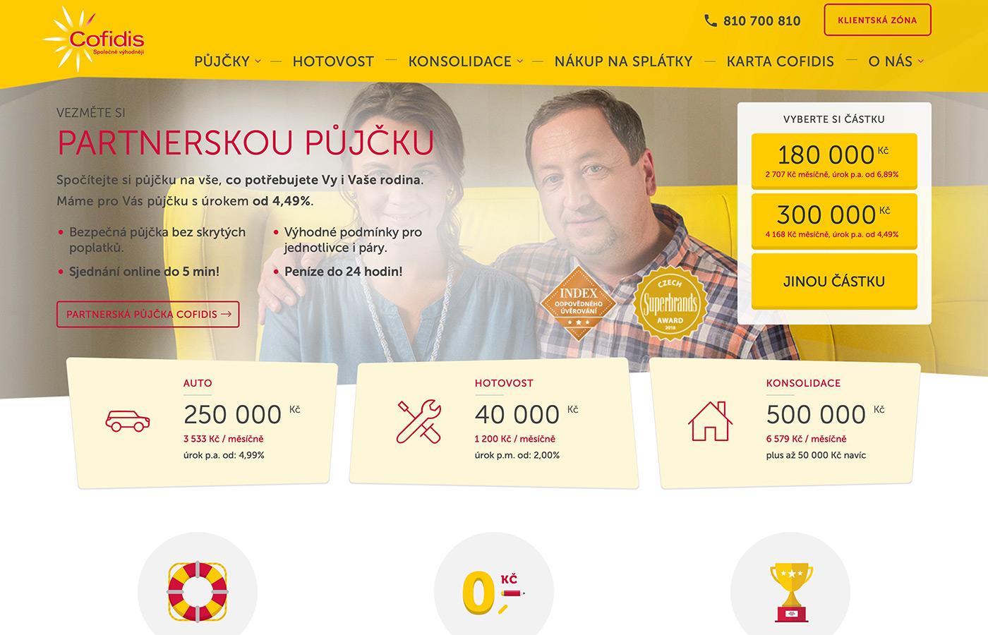 Webové stránky https://www.cofidis.cz