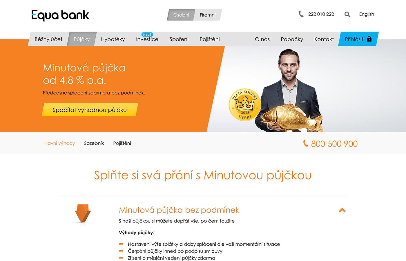 Webové stránky https://www.equabank.cz/pujcky/pujcka