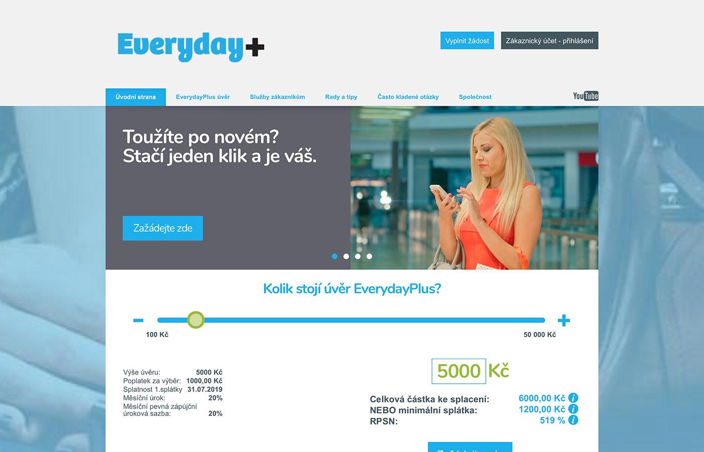Webové stránky http://www.everydayplus.cz