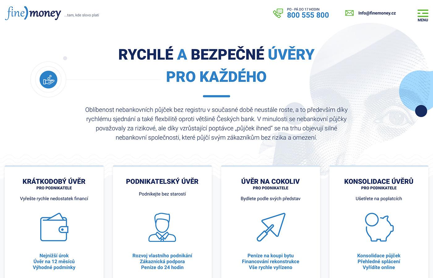 Webové stránky https://www.finemoney.cz