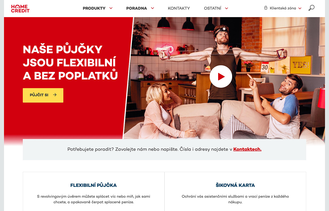 Webové stránky https://www.homecredit.cz