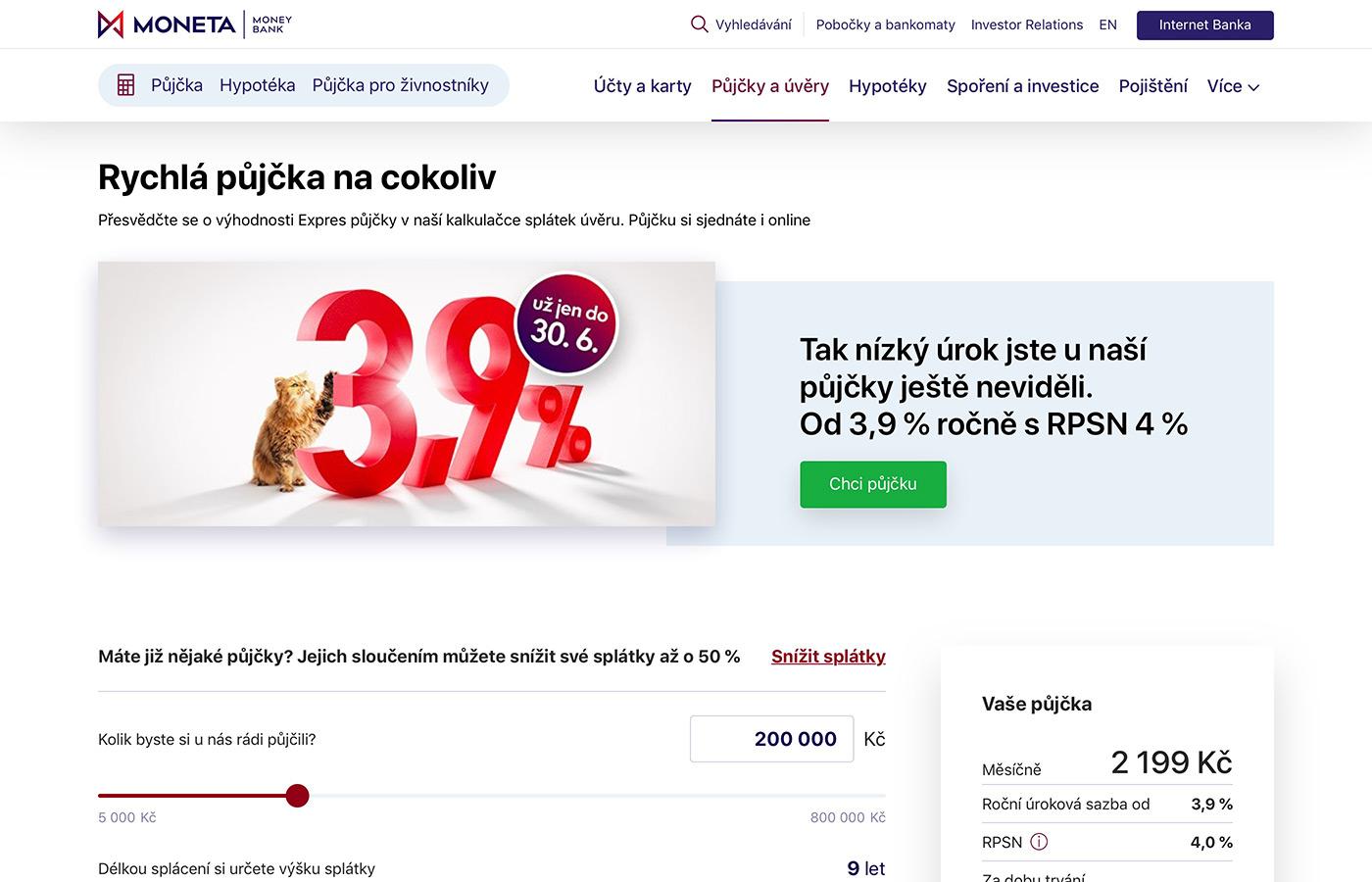 Webové stránky https://www.moneta.cz/pujcky-a-uvery/pujcka-na-cokoliv