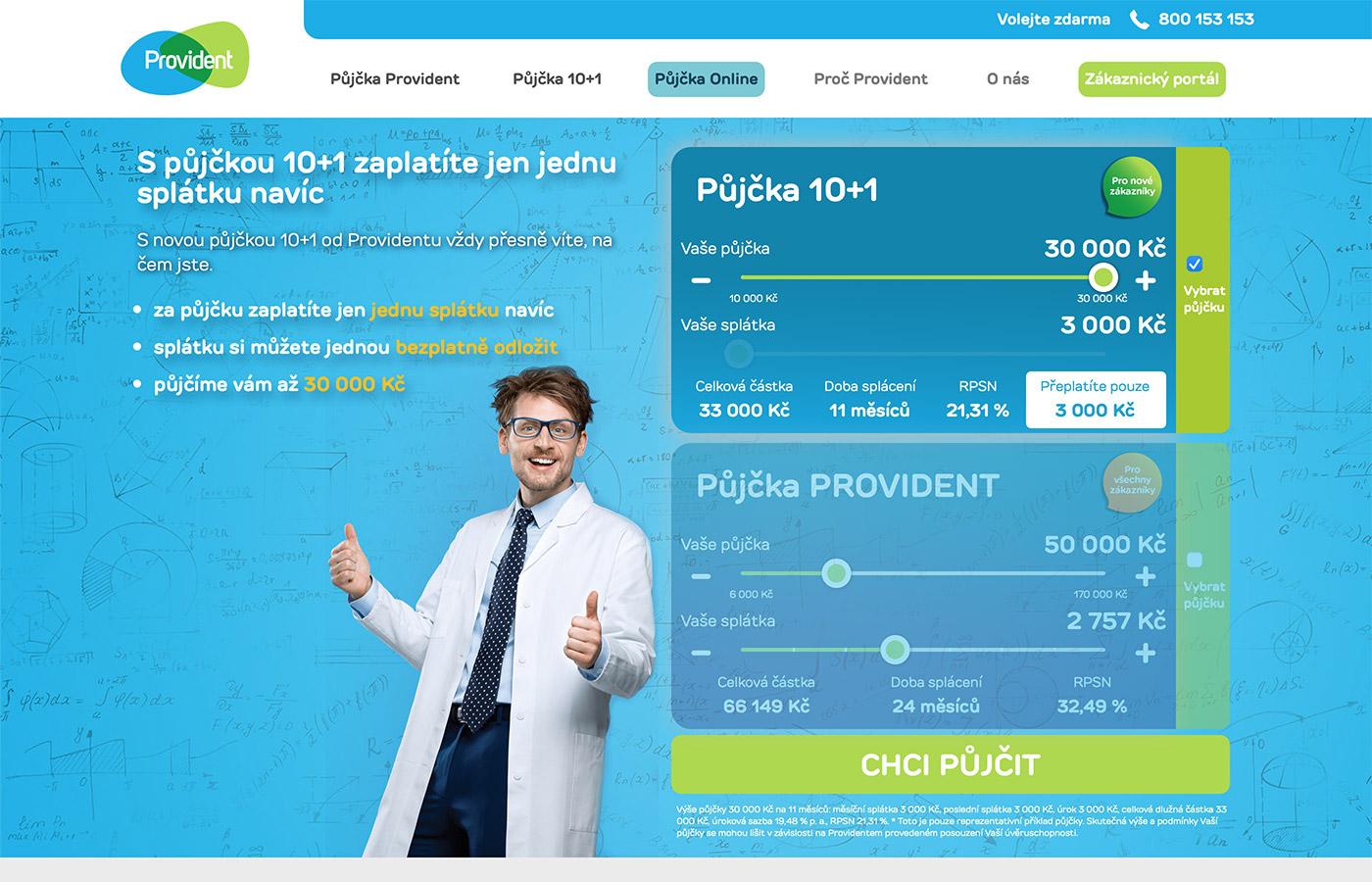 Webové stránky https://www.provident.cz/pujcky/pujcka-10-1