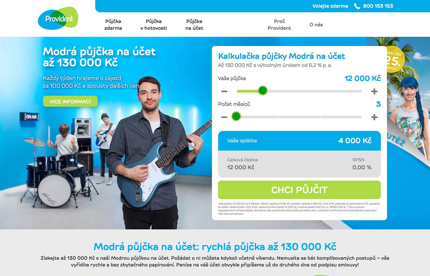 Webové stránky https://www.provident.cz/pujcky/pujcka-na-ucet