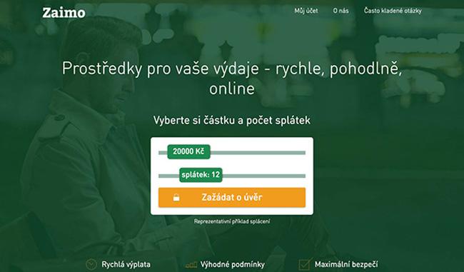 Webové stránky společnosti www.zaimo.cz