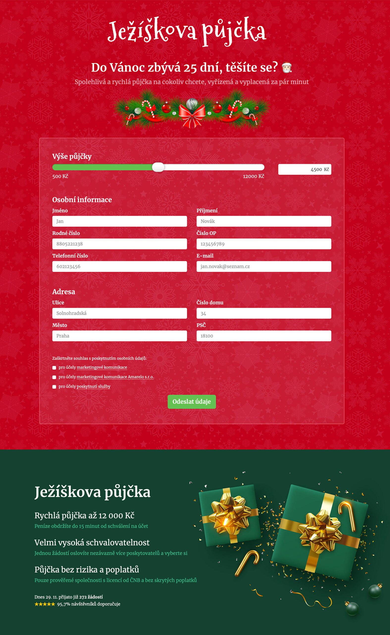 Ukázka webu www.jeziskovapujcka.cz